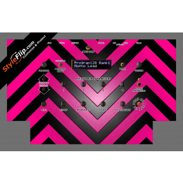 Black & Hot Pink Chevron Dave Smith Instruments Mopho
