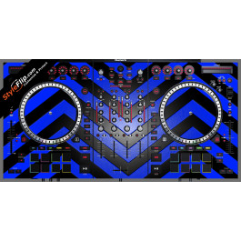 Black & Blue Chevron Numark NS-7 III