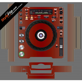 Red Stripes Pioneer CDJ-1000MK3