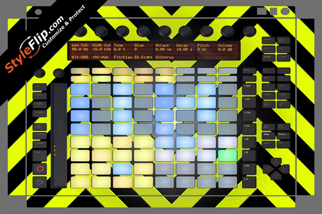 Black & Yellow Chevron Ableton Push