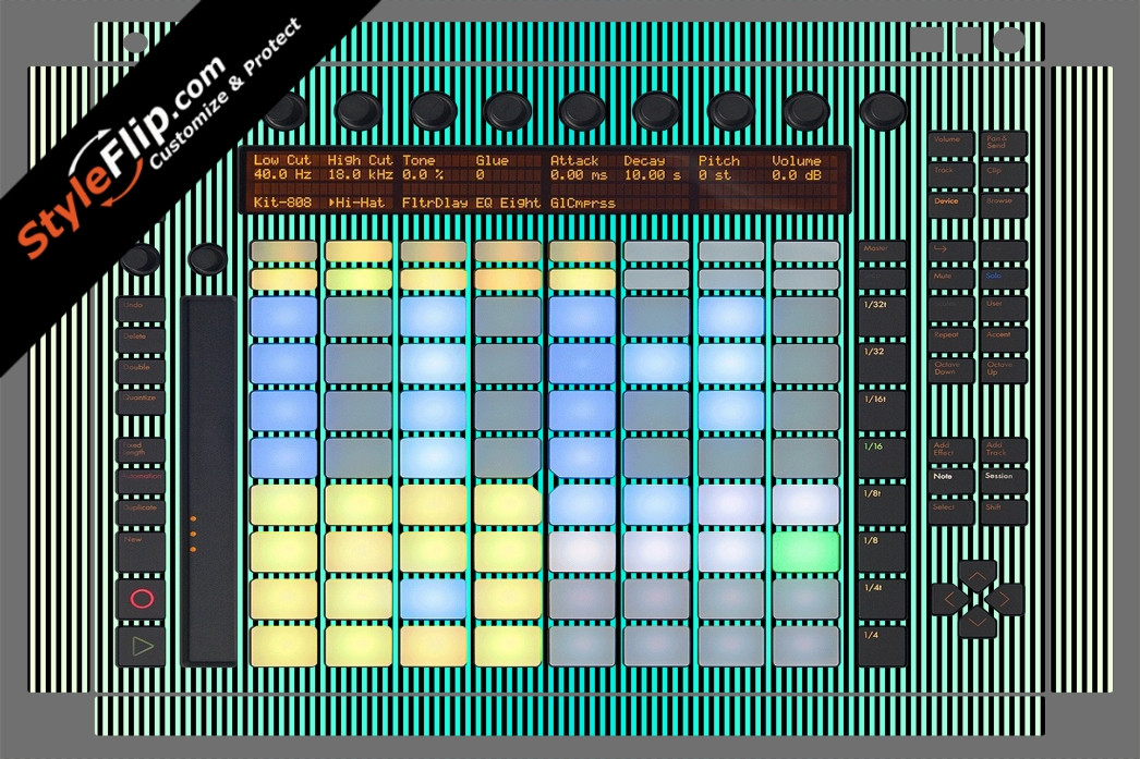 Teal Stripes Ableton Push