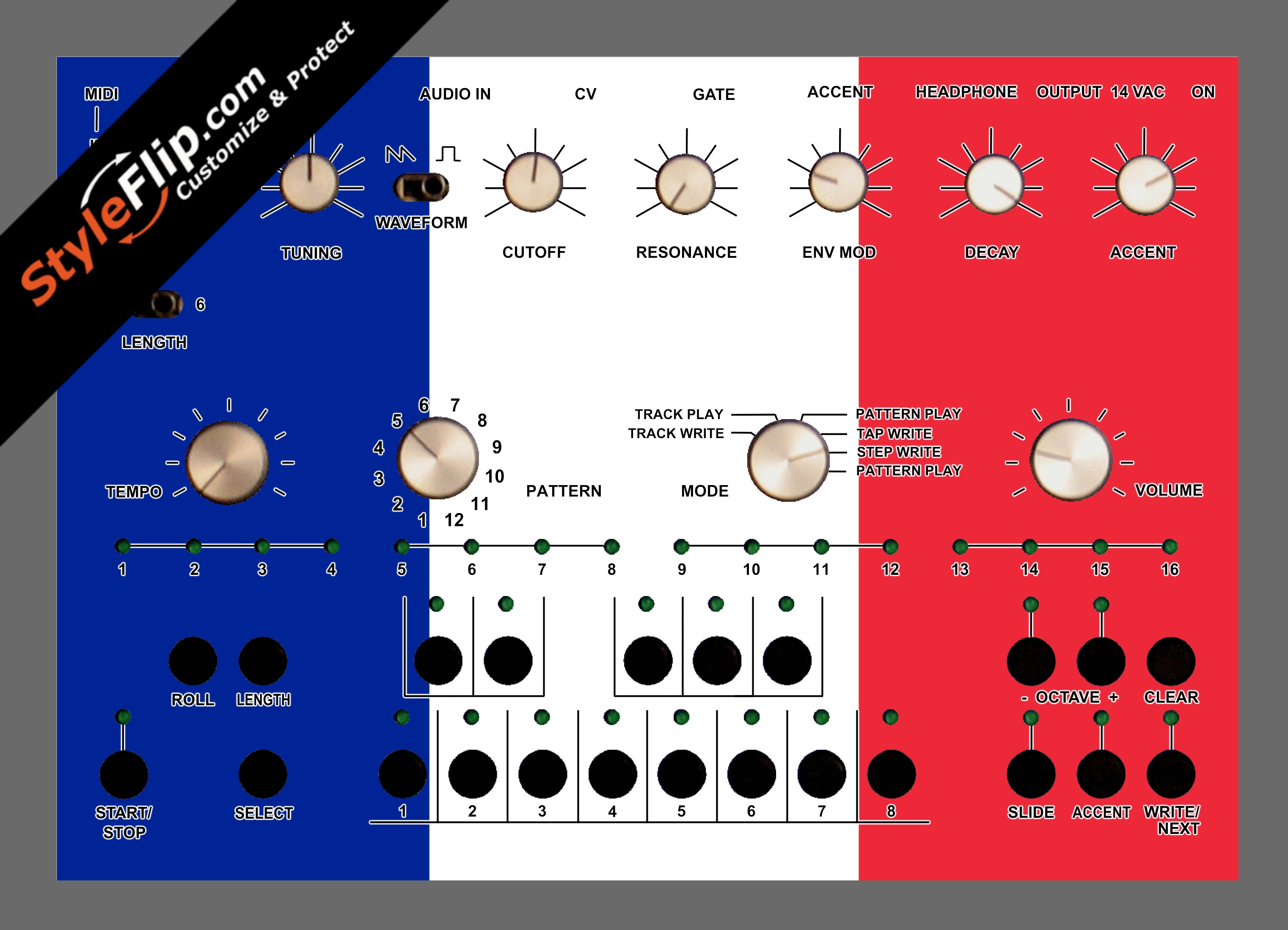 French Flag  Acidlab Bassline 2