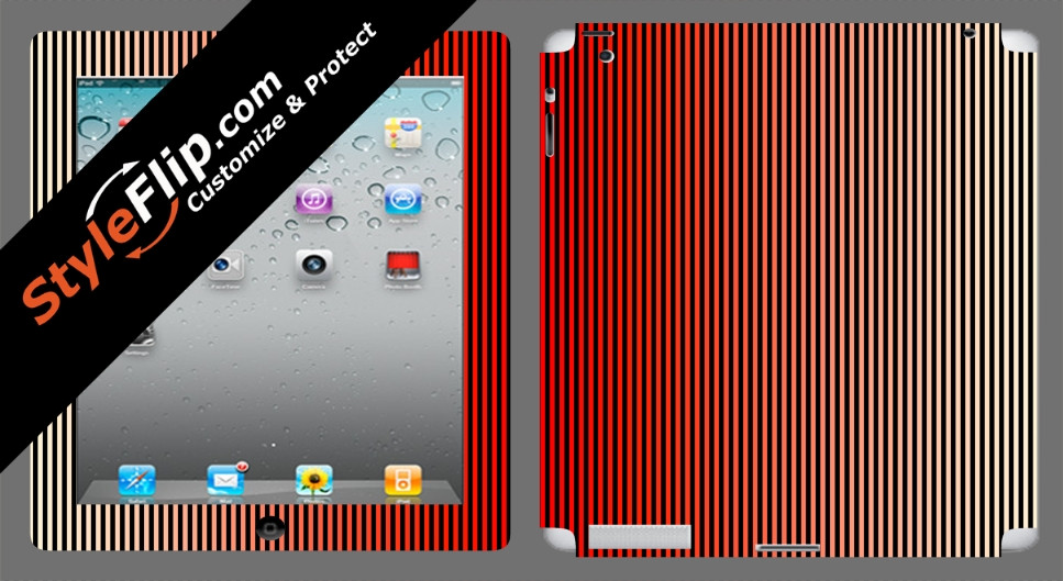 Red Stripes Apple iPad 3