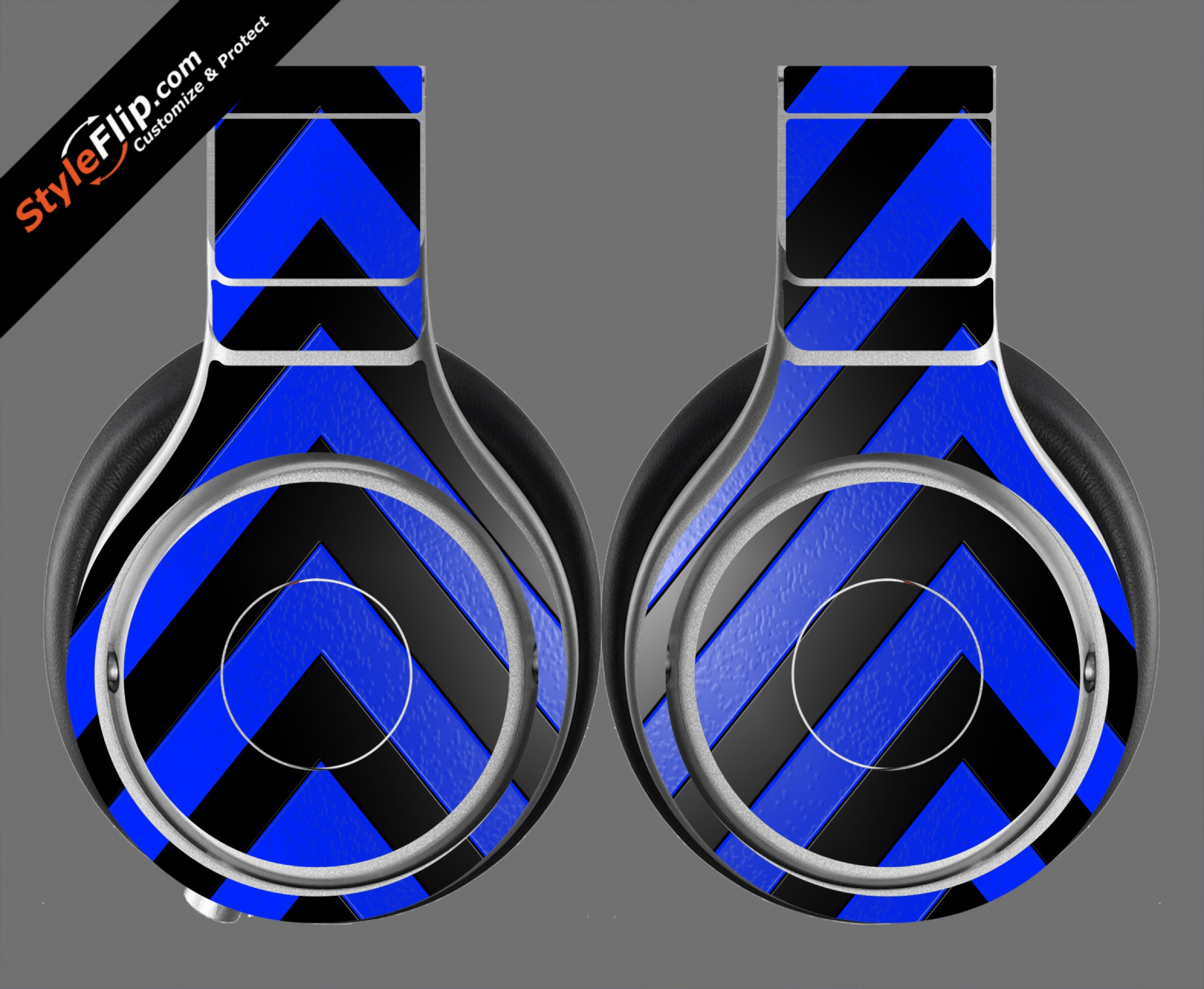 Black & Blue Chevron Beats By Dr. Dre Beats Pro Model