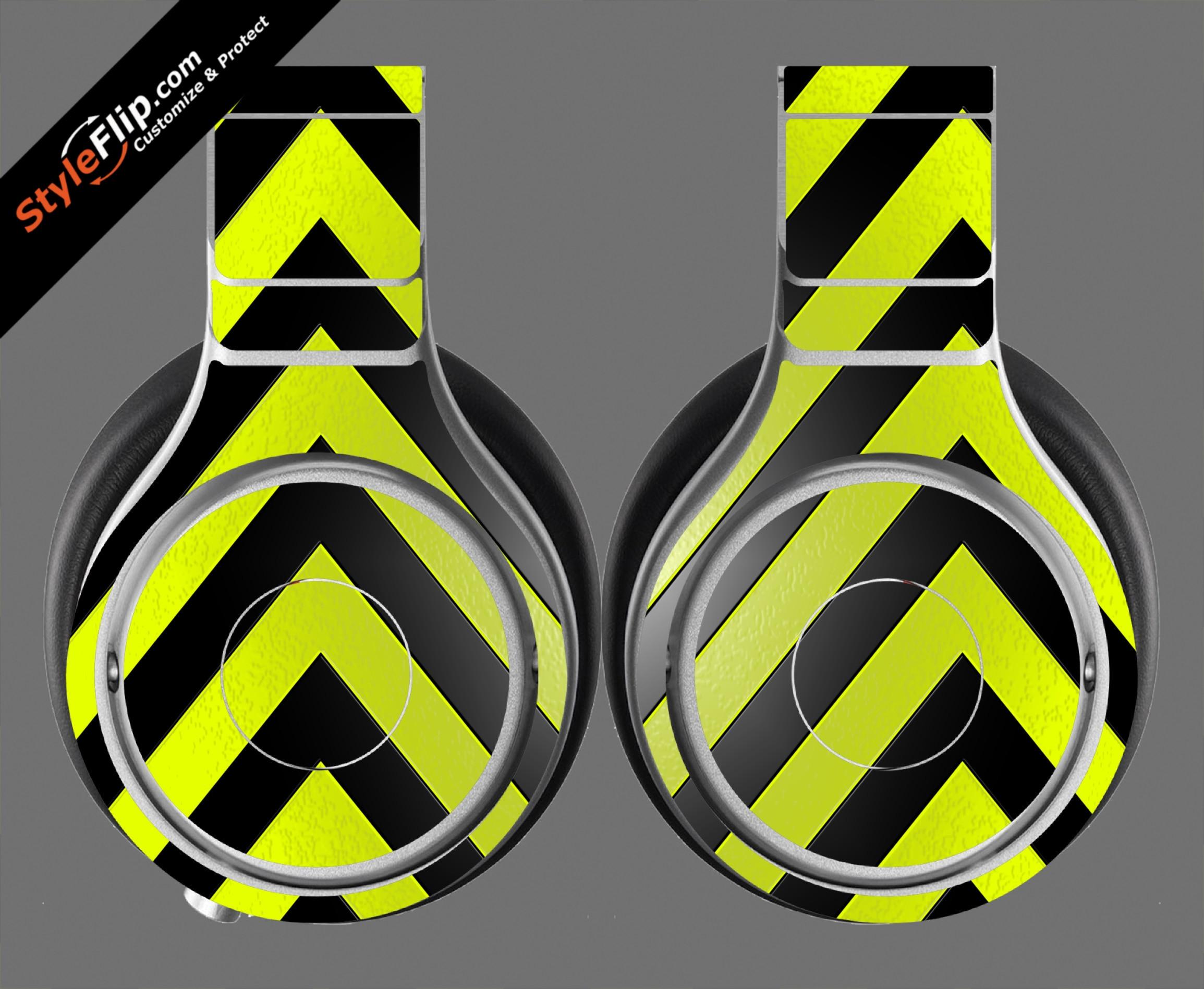 Black & Yellow Chevron Beats By Dr. Dre Beats Pro Model