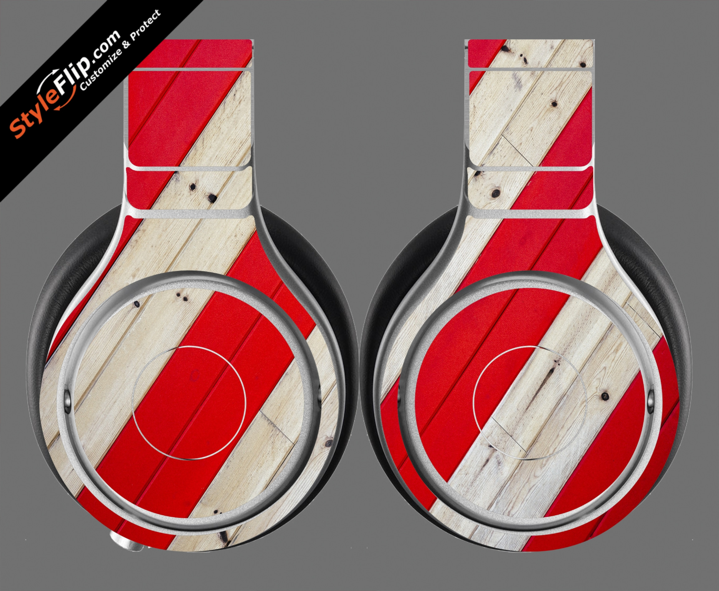 Striped Wood  Beats By Dr. Dre Beats Pro Model