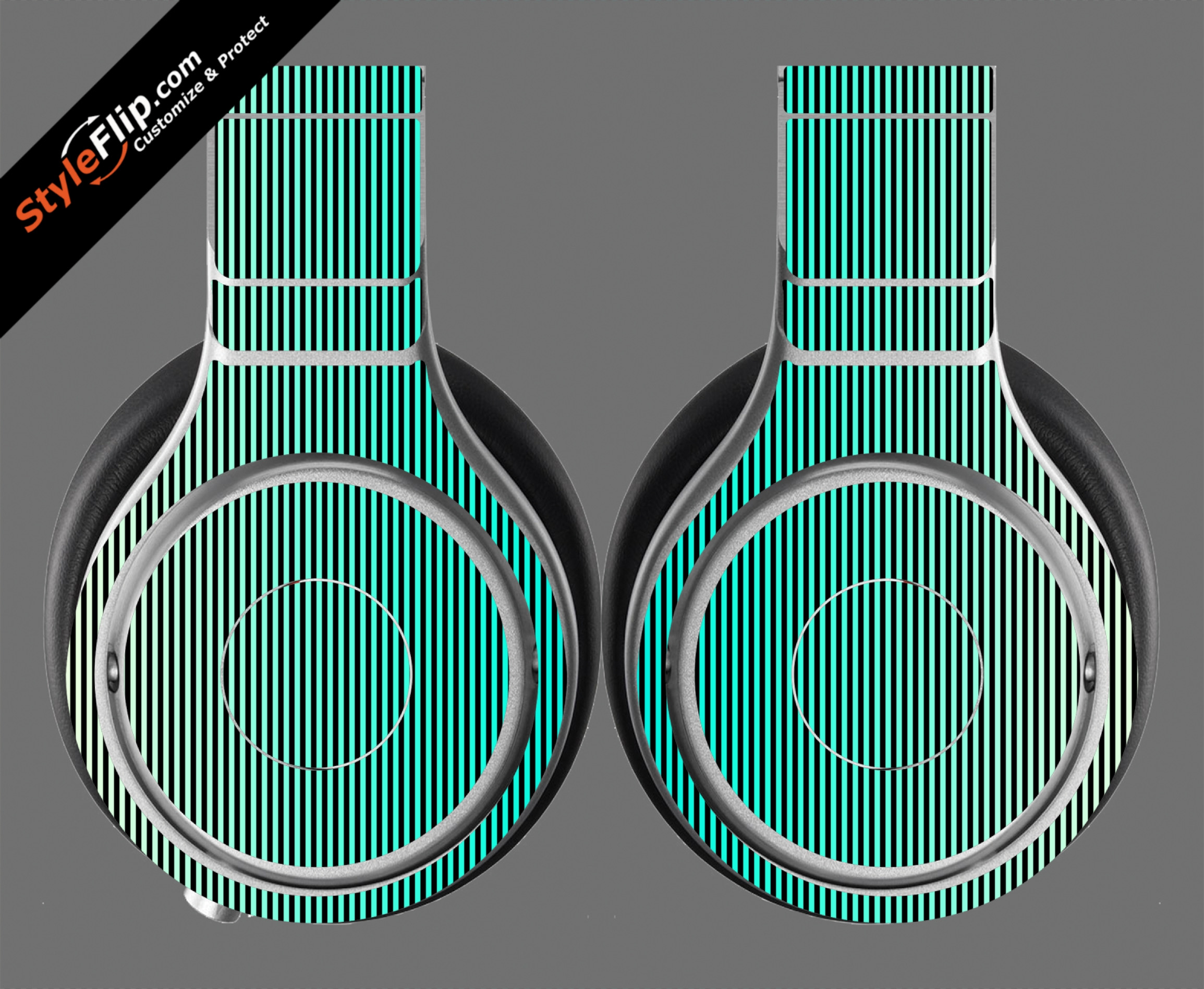 Teal Stripes Beats By Dr. Dre Beats Pro Model