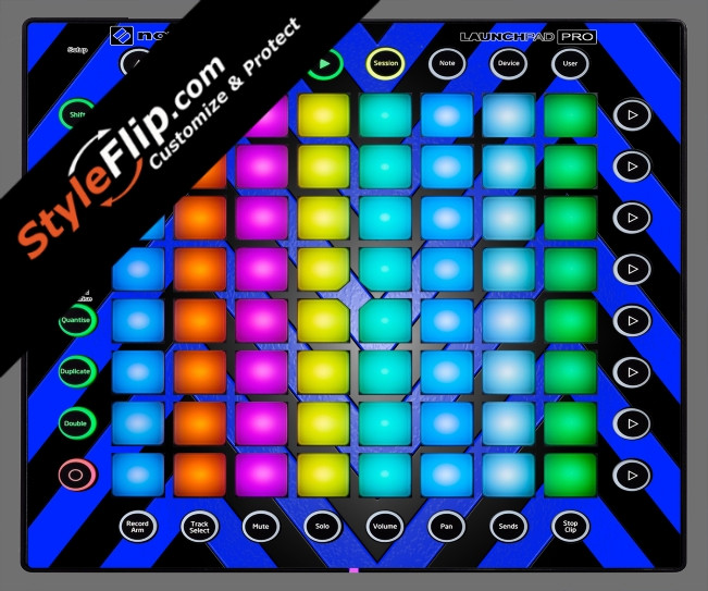Black & Blue Chevron Novation Launchpad Pro