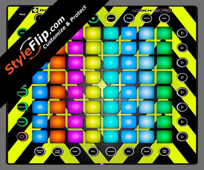 Black & Yellow Chevron Novation Launchpad Pro