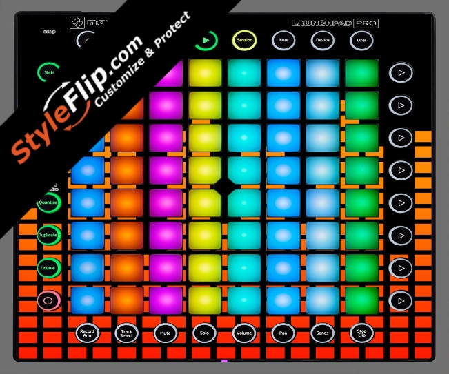 Orange Equalizer  Novation Launchpad Pro