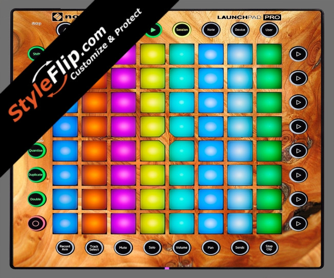 Stained Wood Novation Launchpad Pro