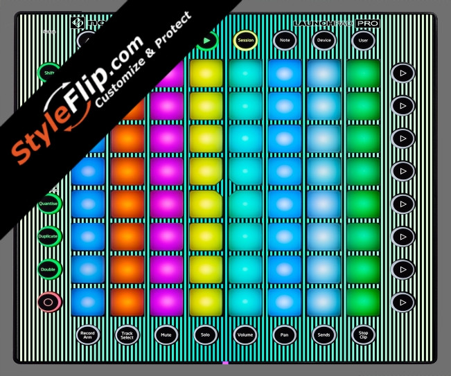 Teal Stripes Novation Launchpad Pro