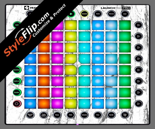 White Marble Novation Launchpad Pro