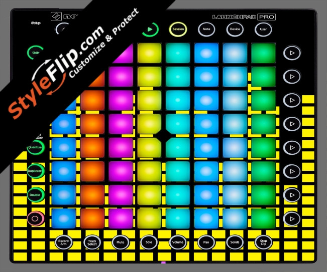 Yellow Equalizer  Novation Launchpad Pro
