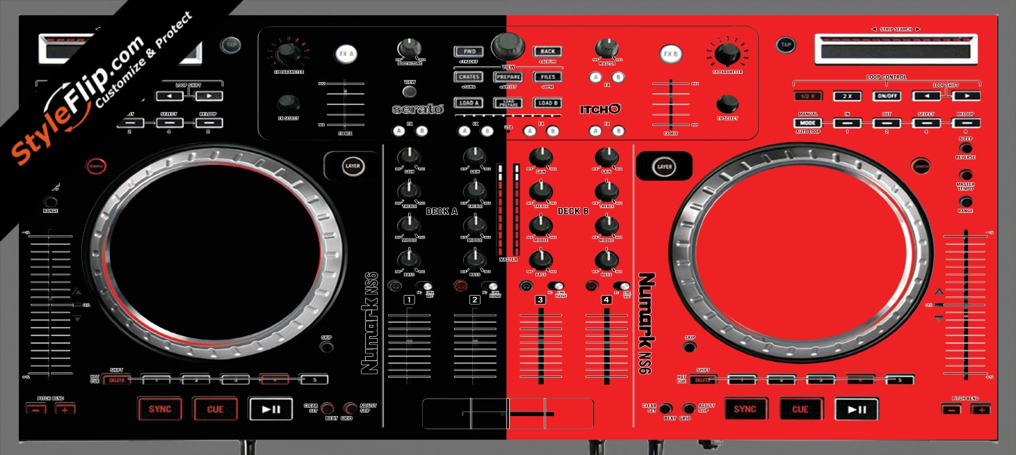 Black & Red Numark NS-6