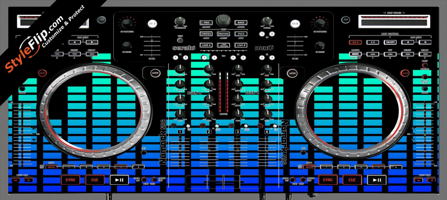 Blue Equalizer  Numark NS-6