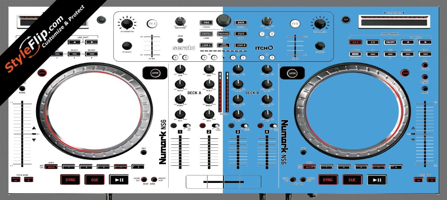 Blue & White Numark NS-6