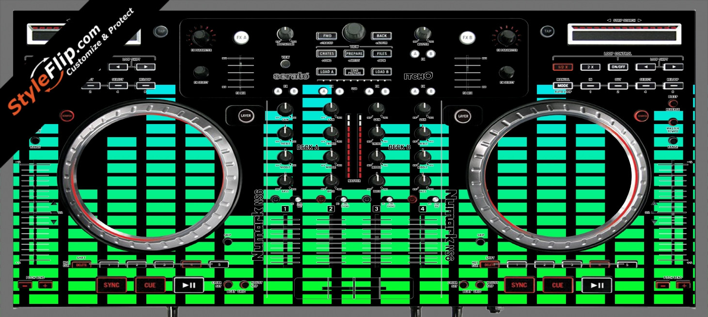 Green Equalizer  Numark NS-6