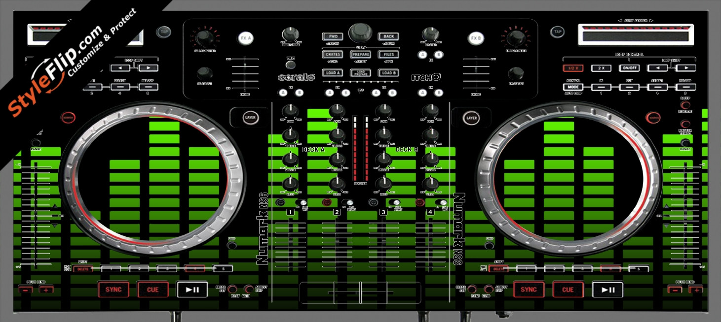 Lime Equalizer Numark NS-6