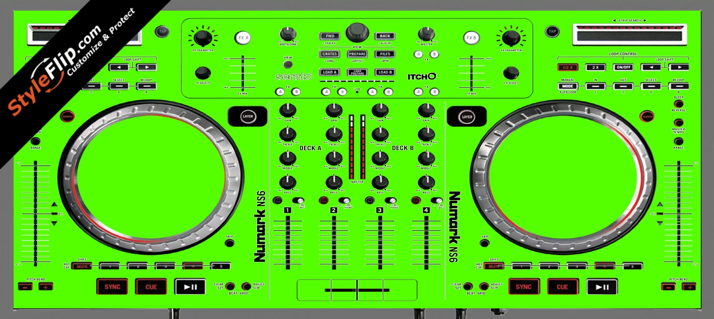 Solid Green Numark NS-6