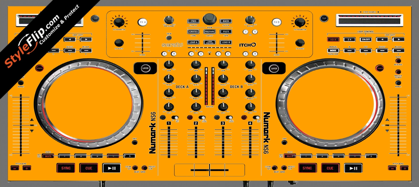 Solid Orange Numark NS-6