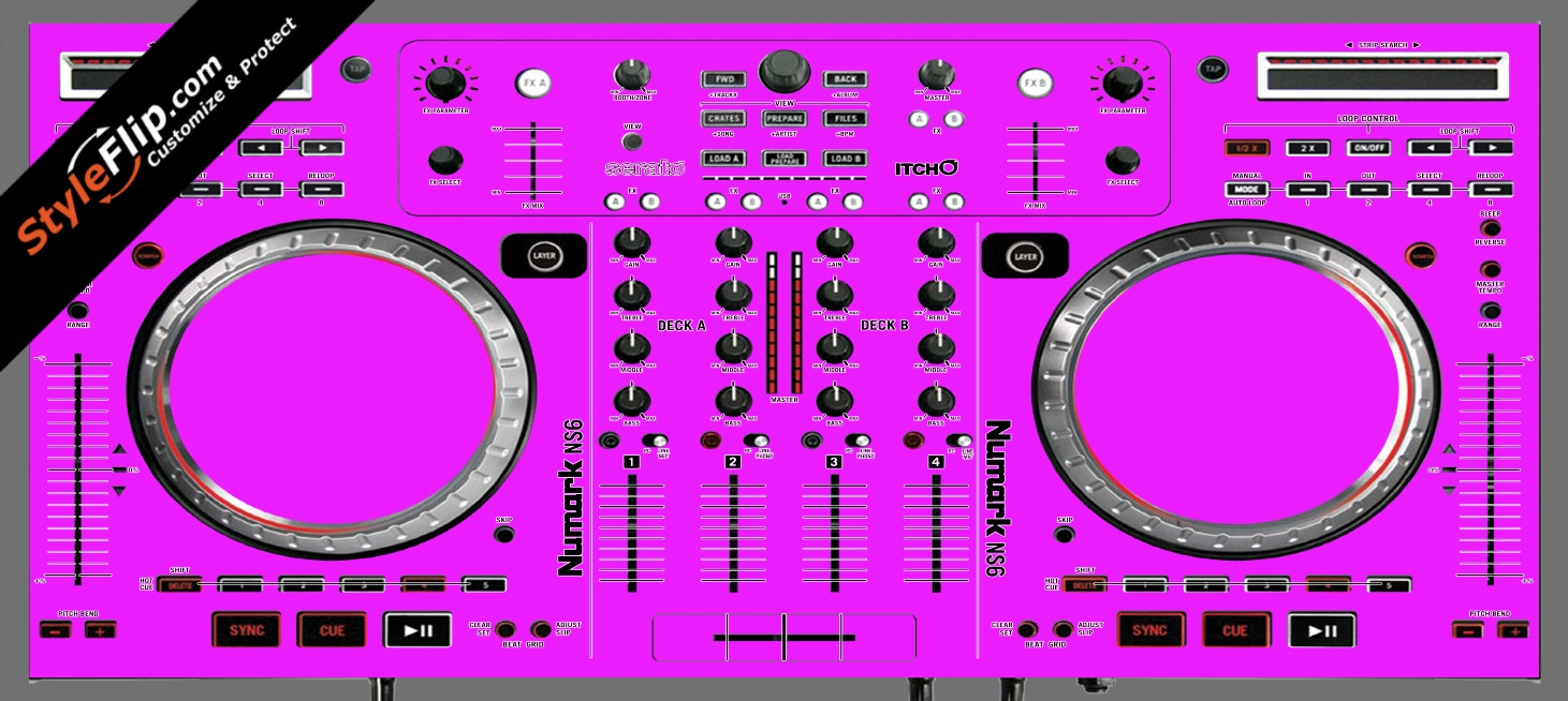 Solid Pink Numark NS-6