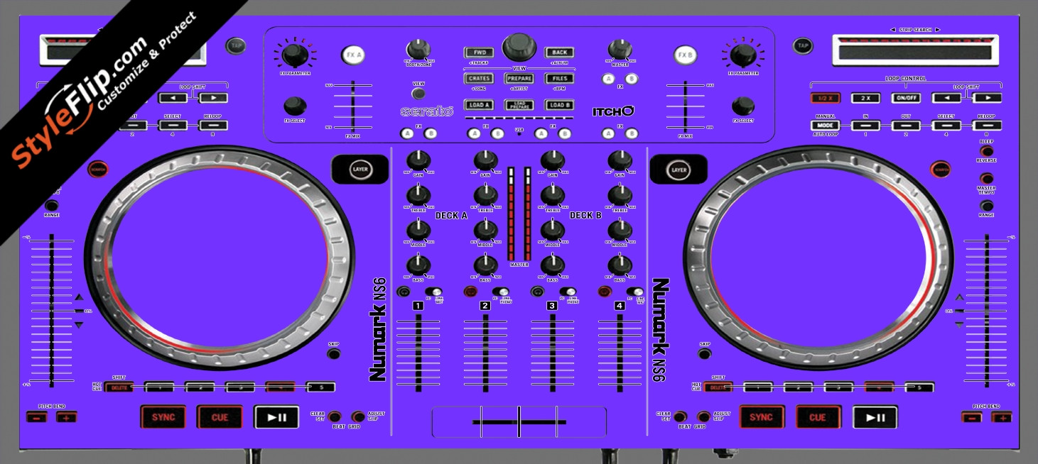 Solid Purple Numark NS-6