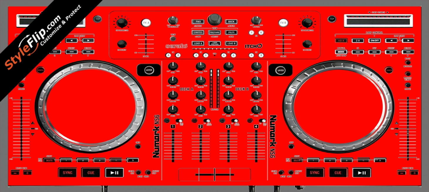 Solid Red Numark NS-6