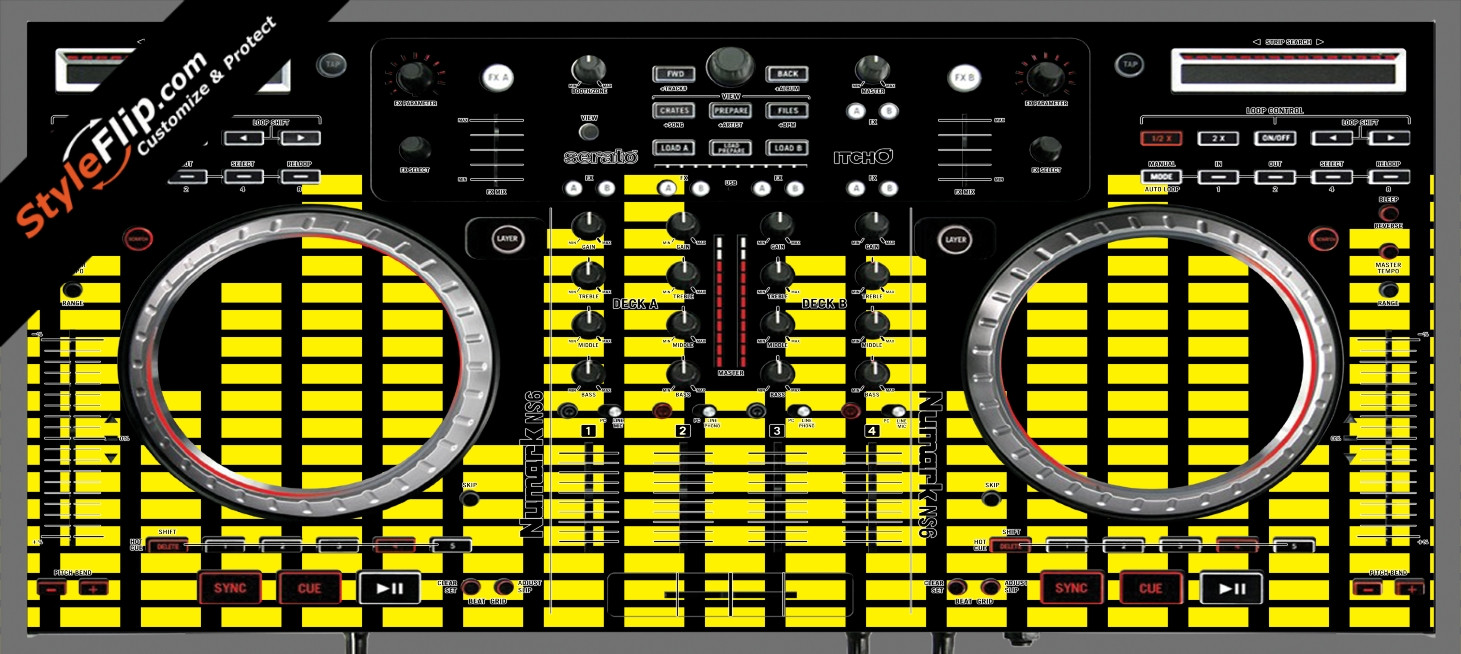 Yellow Equalizer  Numark NS-6
