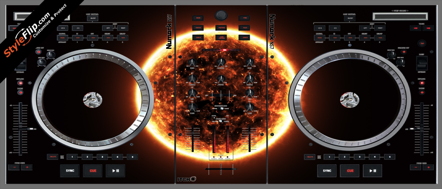 Black Hole Sun  Numark NS-7