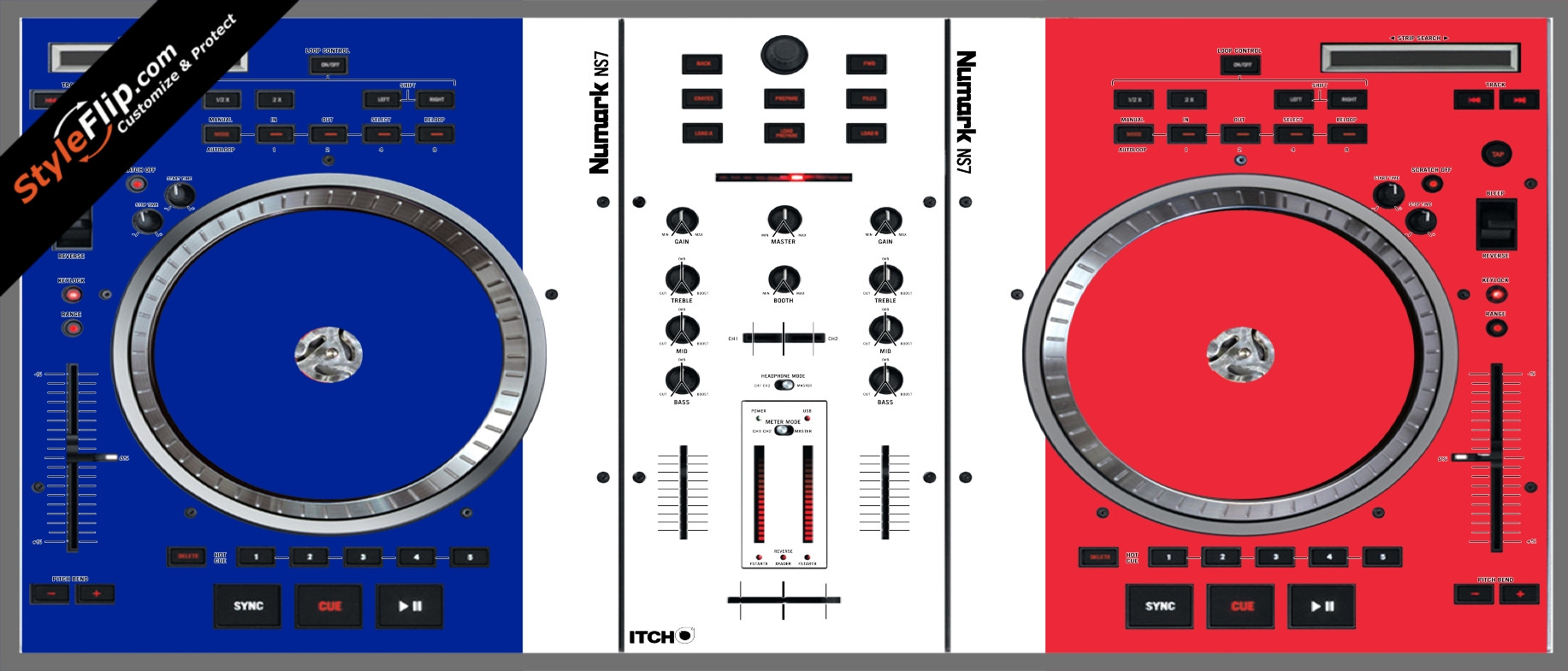 French Flag  Numark NS-7