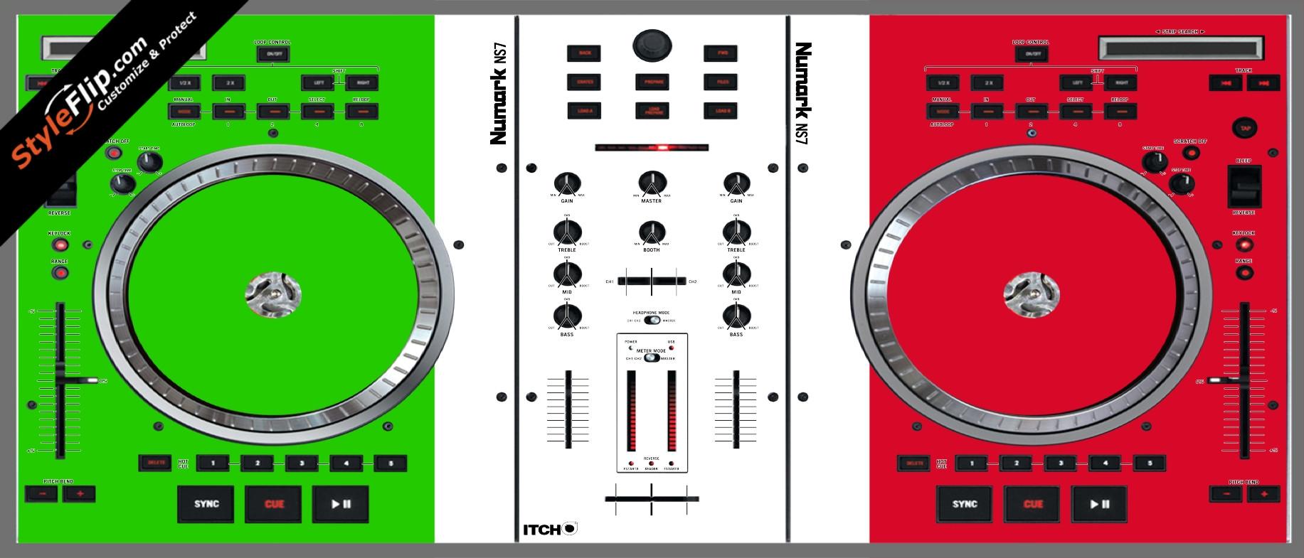 Italian Flag  Numark NS-7