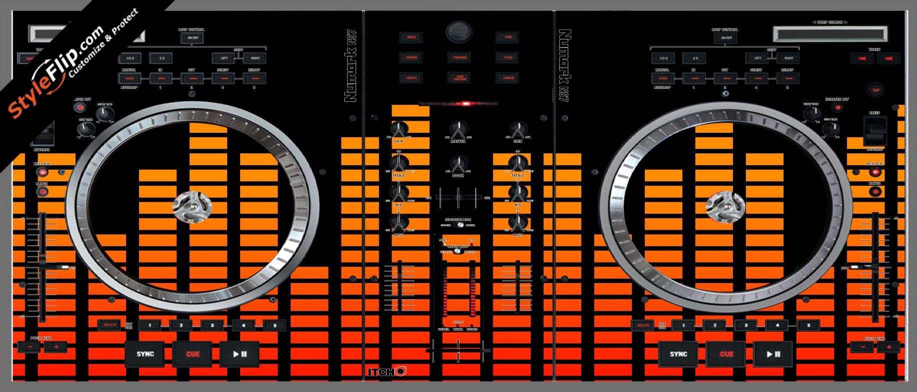 Orange Equalizer  Numark NS-7