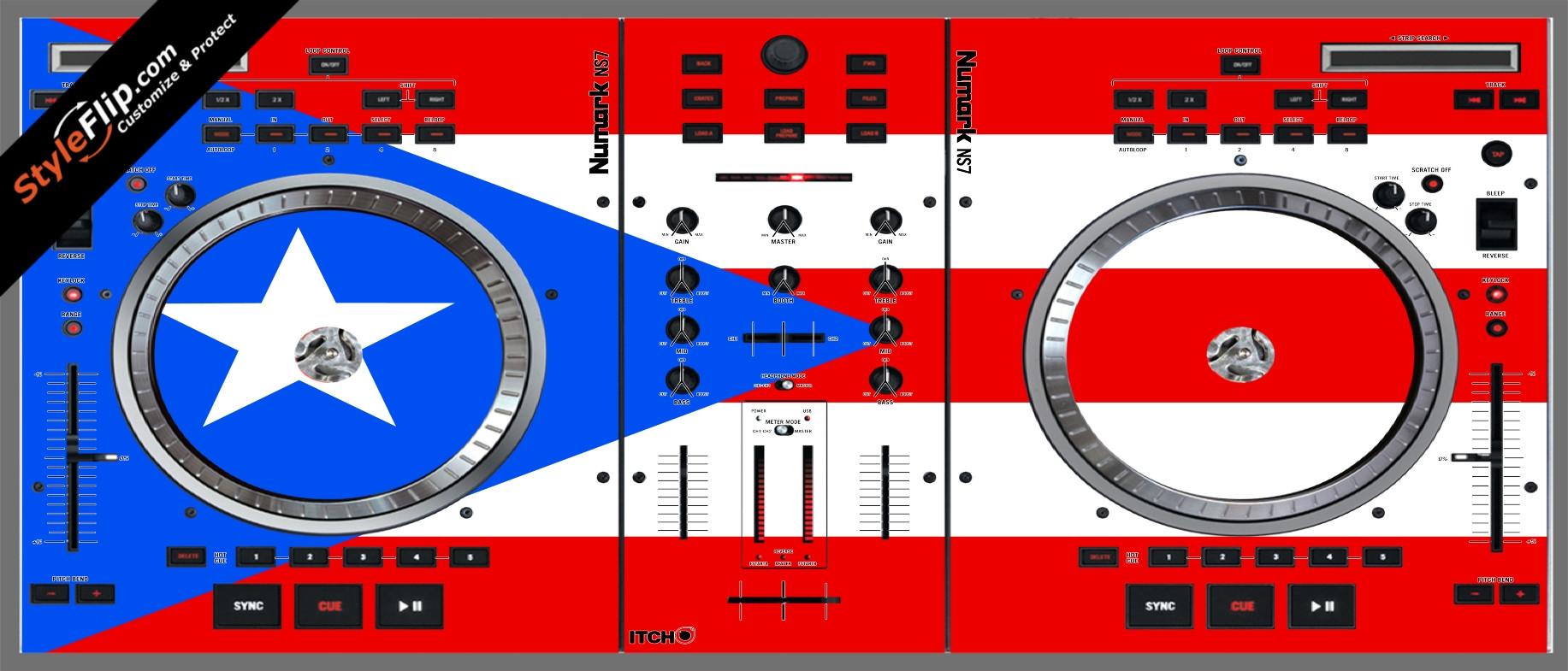 Puerto Rican flag  Numark NS-7