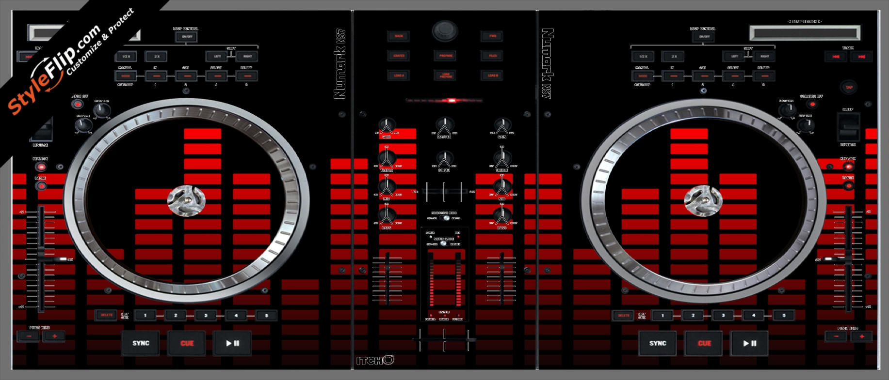Red Equalizer Numark NS-7