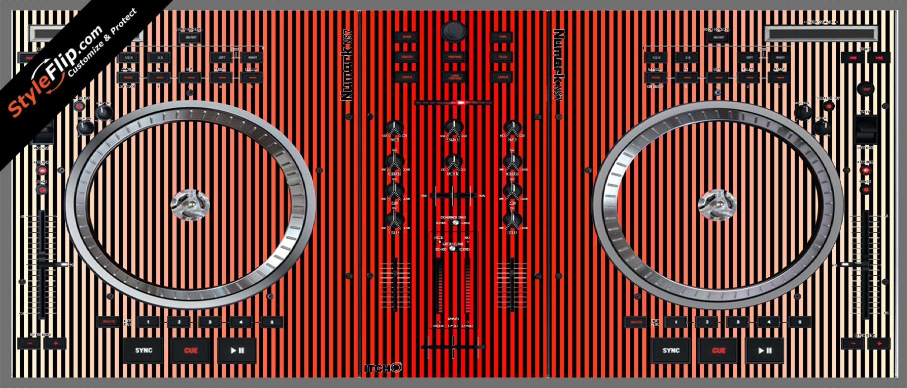 Red Stripes Numark NS-7