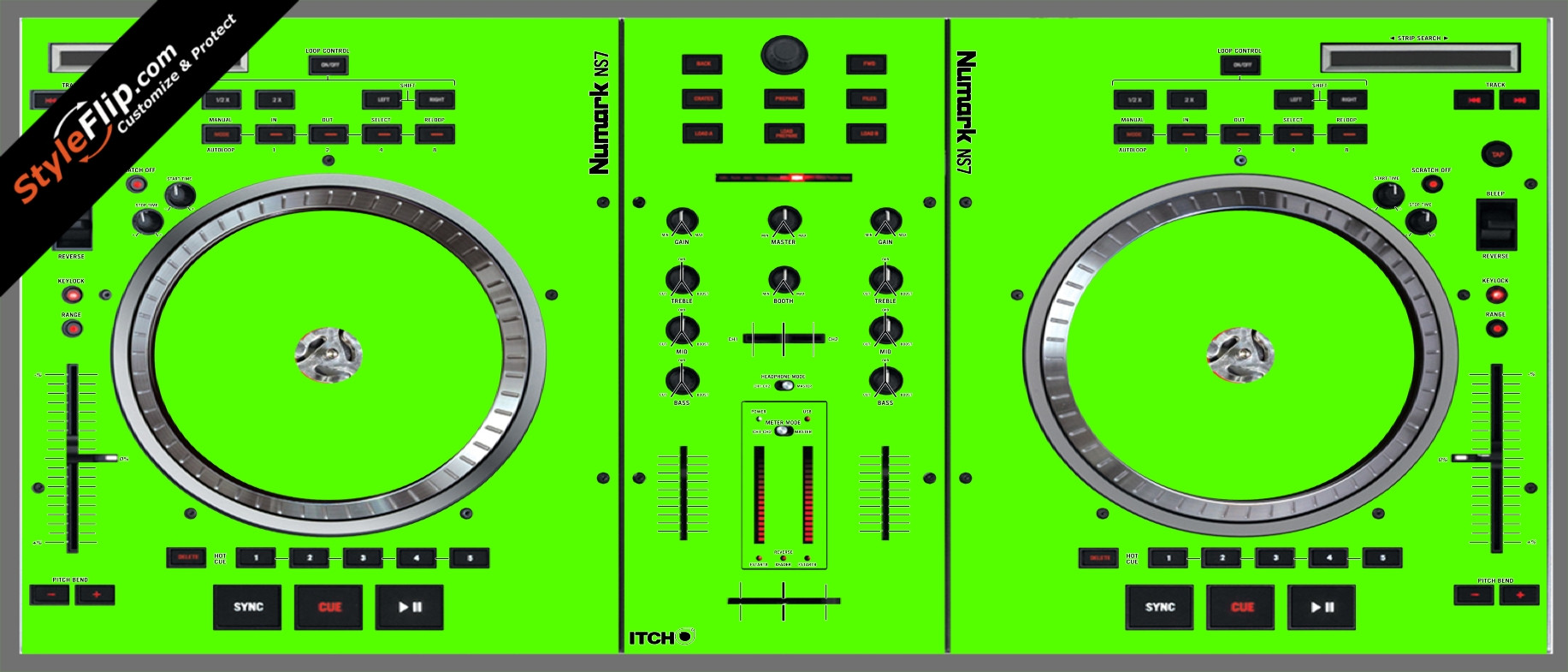 Solid Green Numark NS-7