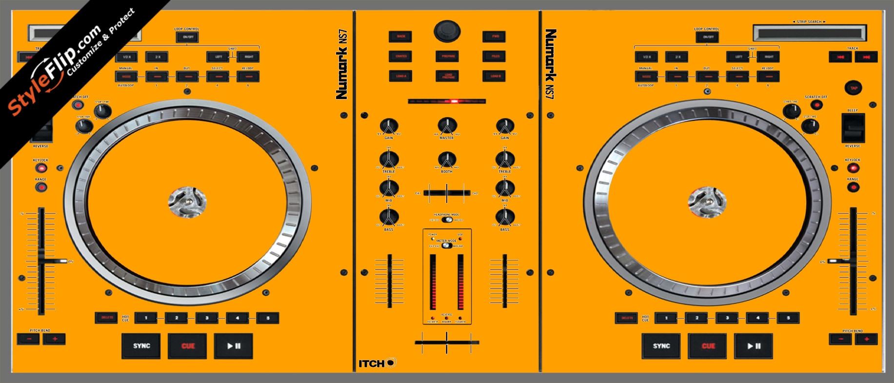 Solid Orange Numark NS-7
