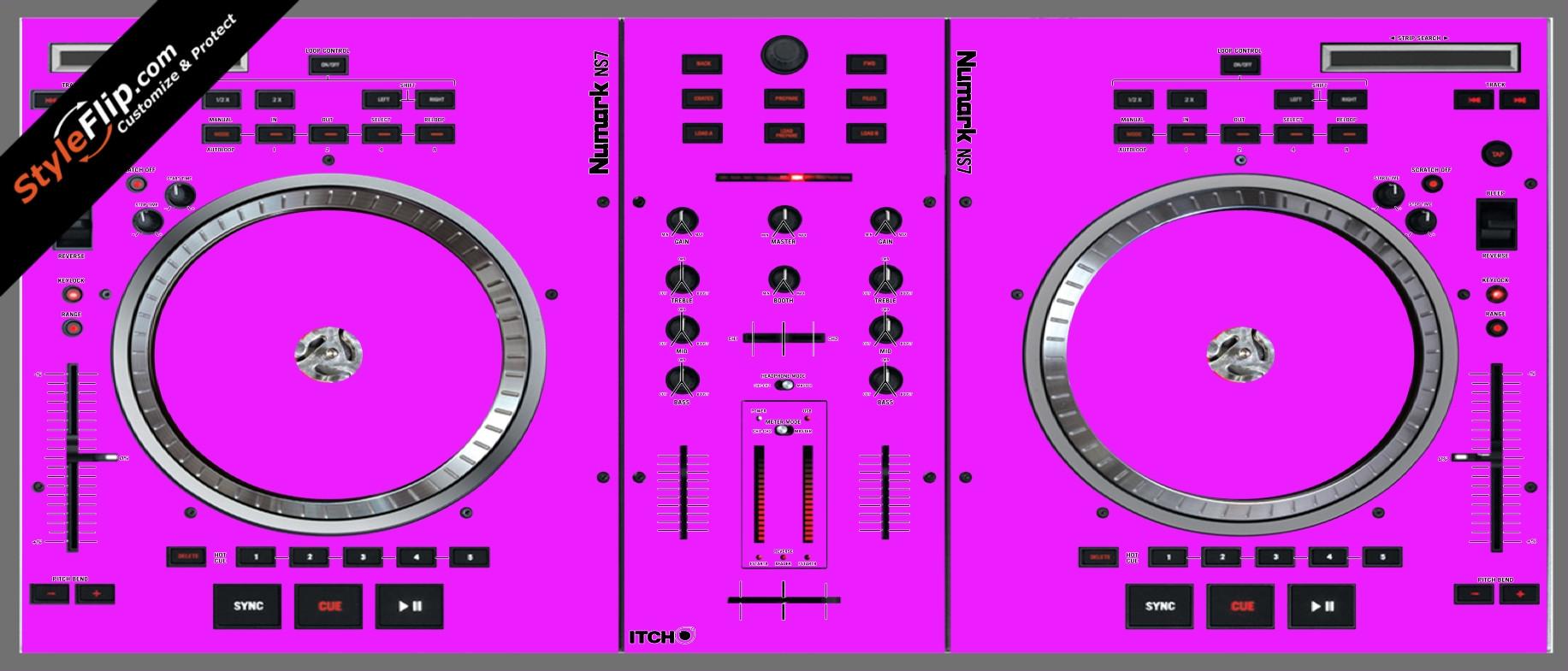Solid Pink Numark NS-7