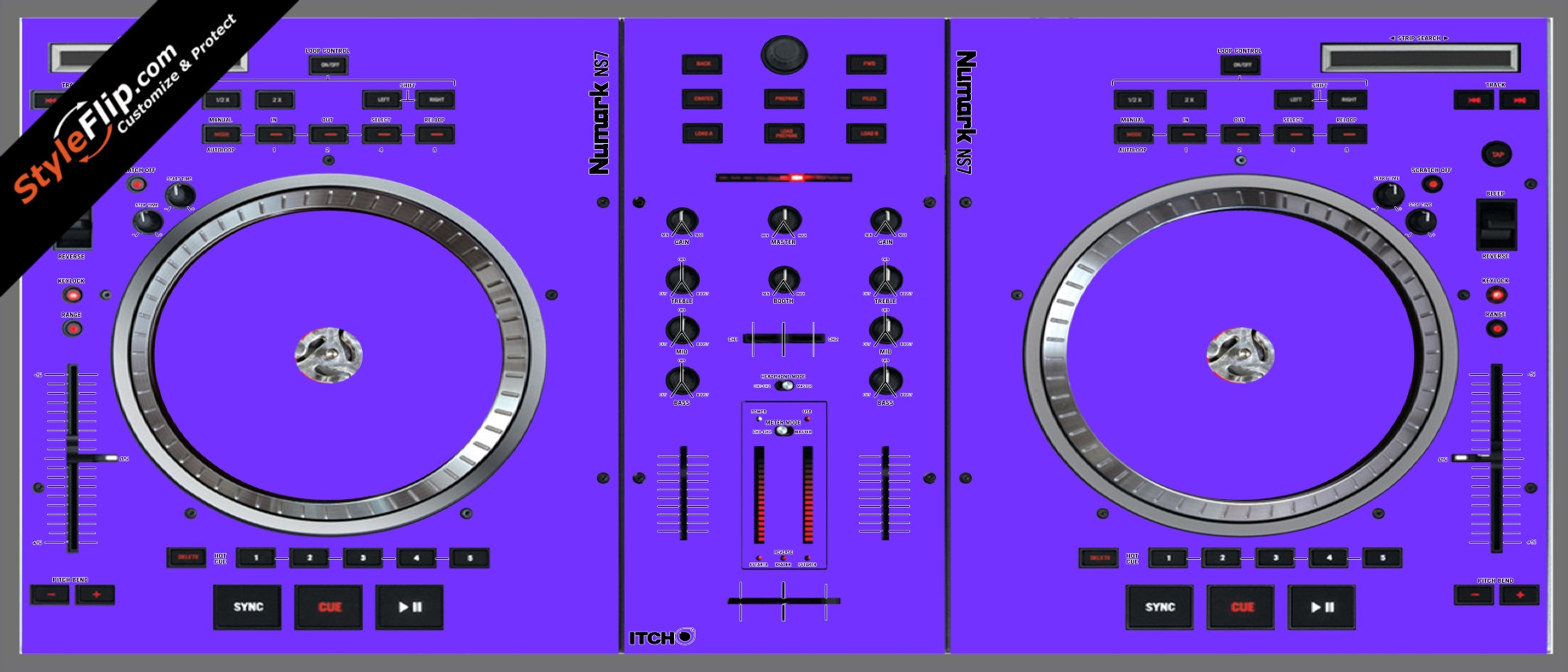 Solid Purple Numark NS-7