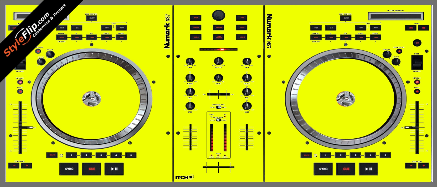 Solid Yellow Numark NS-7
