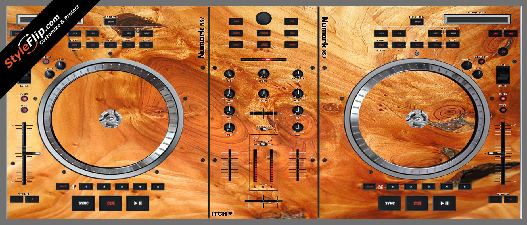Stained Wood Numark NS-7
