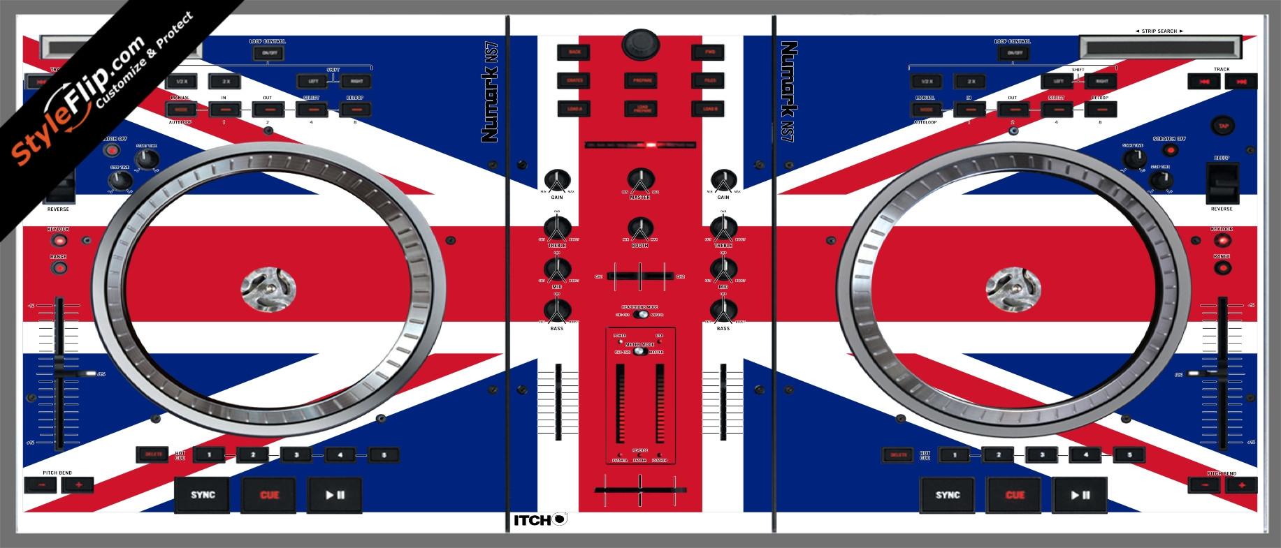 United Kingdom Flag Numark NS-7