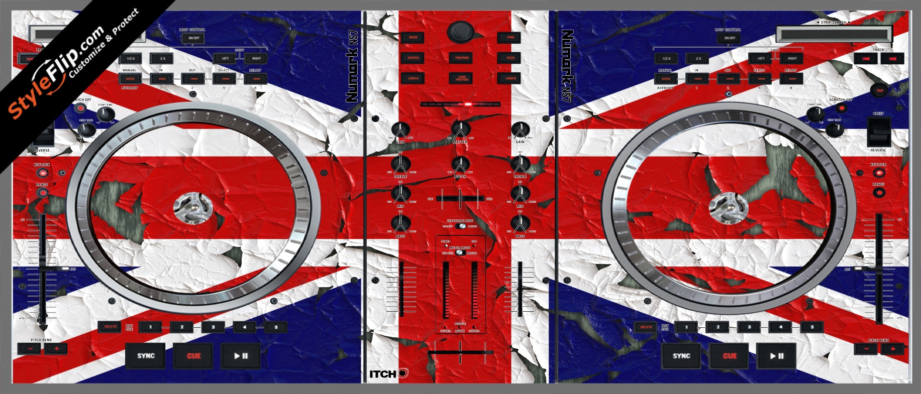 United Kingdom Flag 2  Numark NS-7