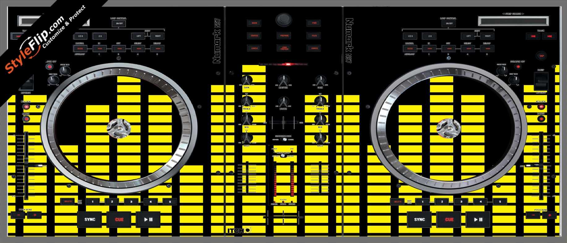 Yellow Equalizer  Numark NS-7