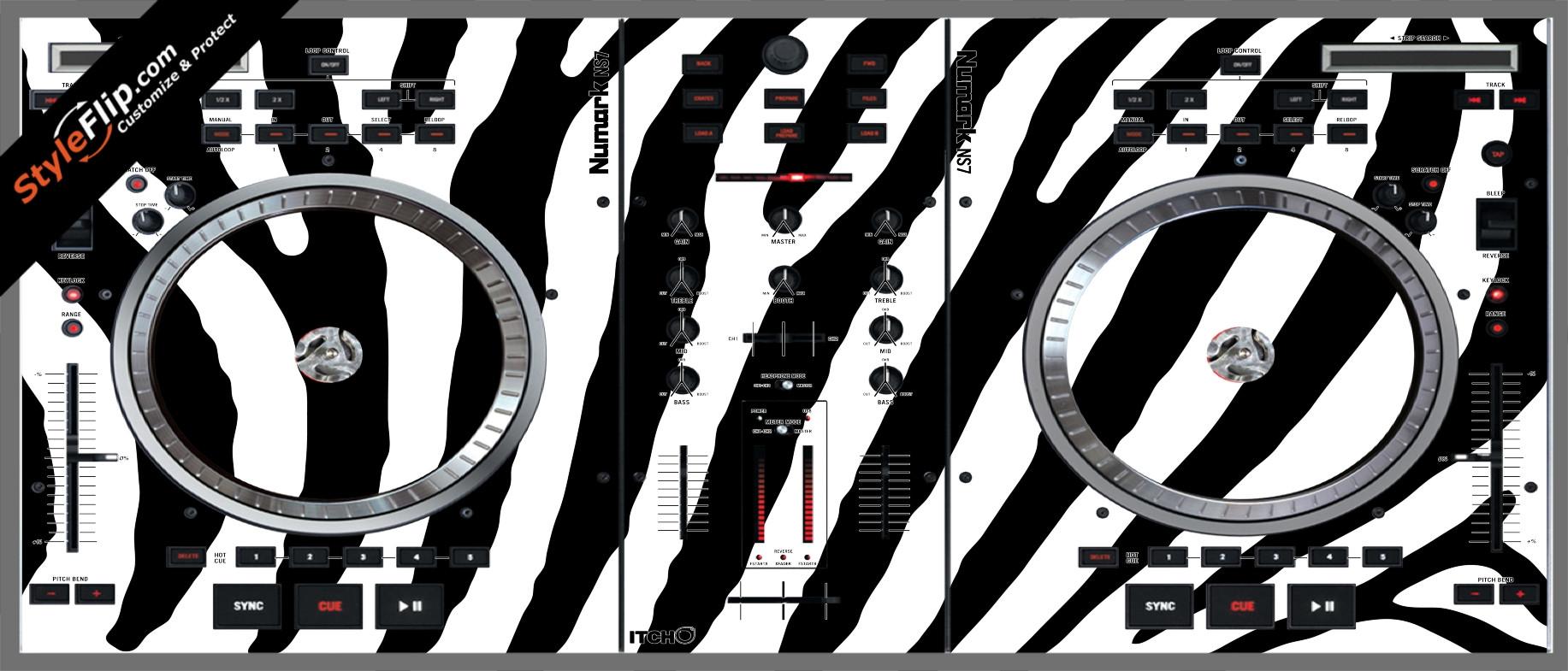 Zebra Print Numark NS-7