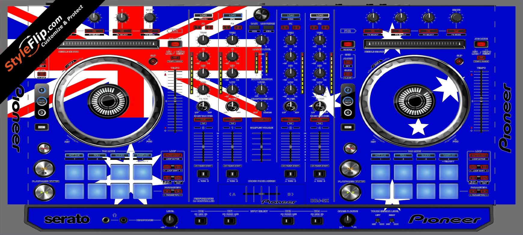 Australian Flag  Pioneer DDJ-SX