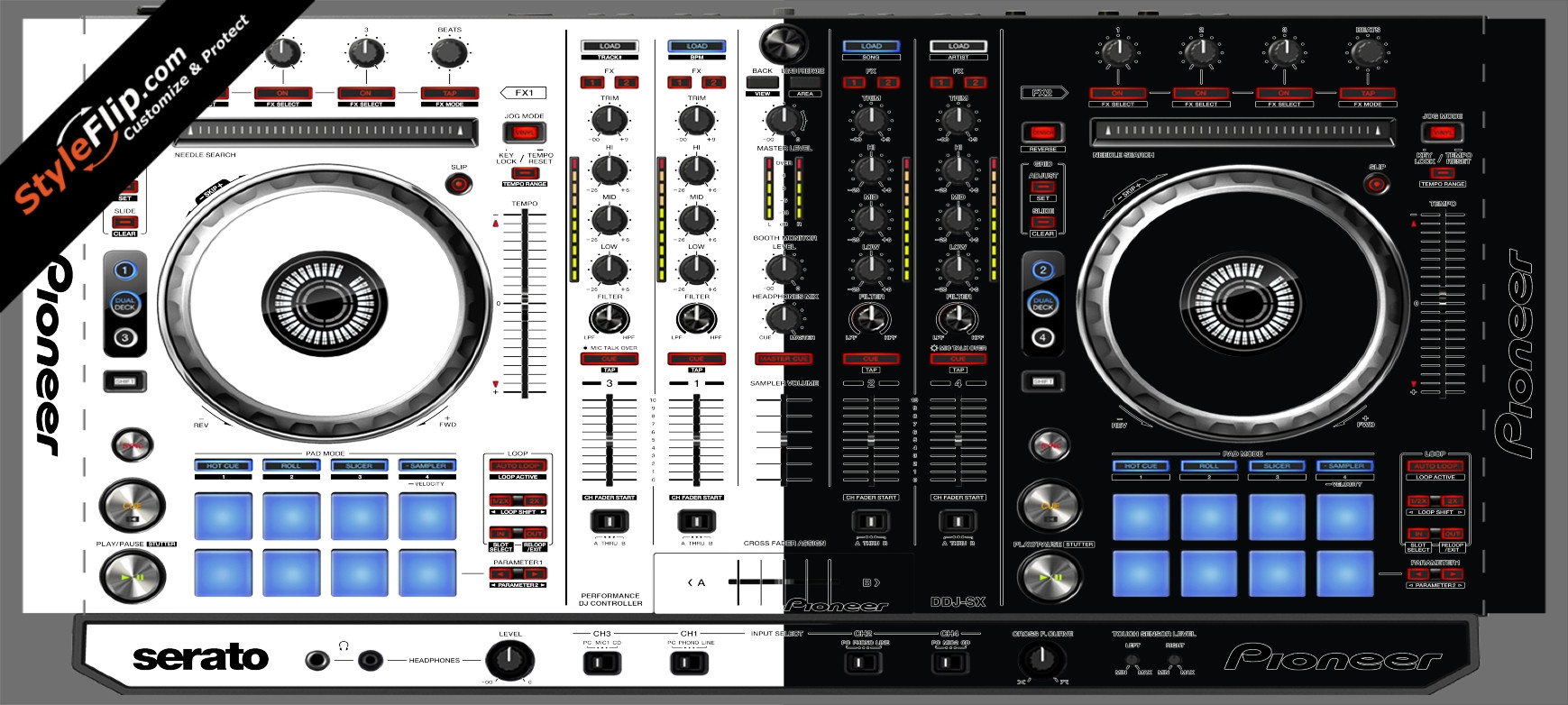 Black & White Pioneer DDJ-SX