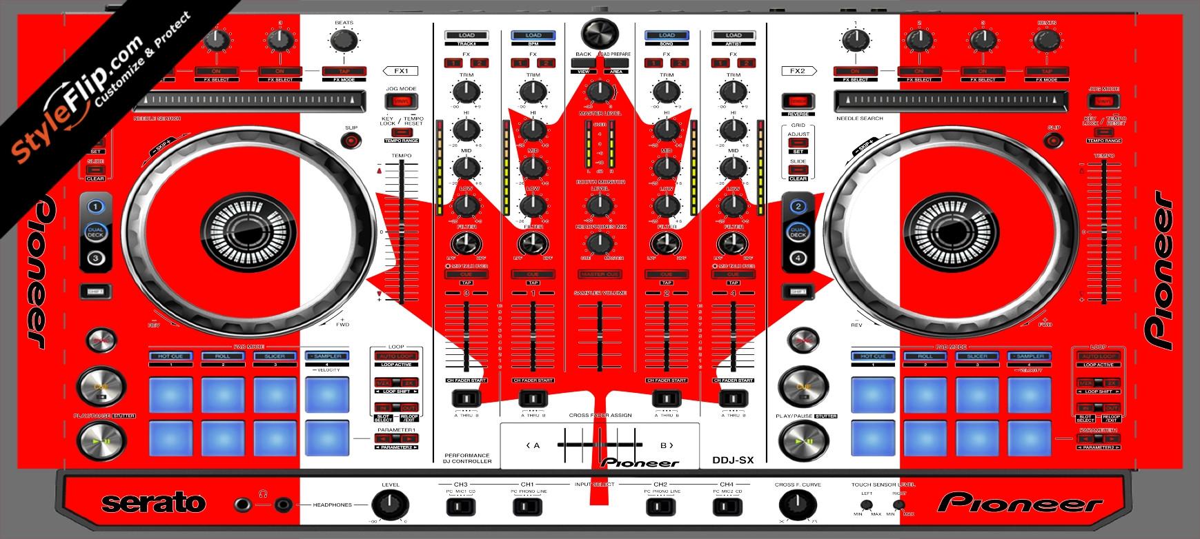 Canadian Flag  Pioneer DDJ-SX
