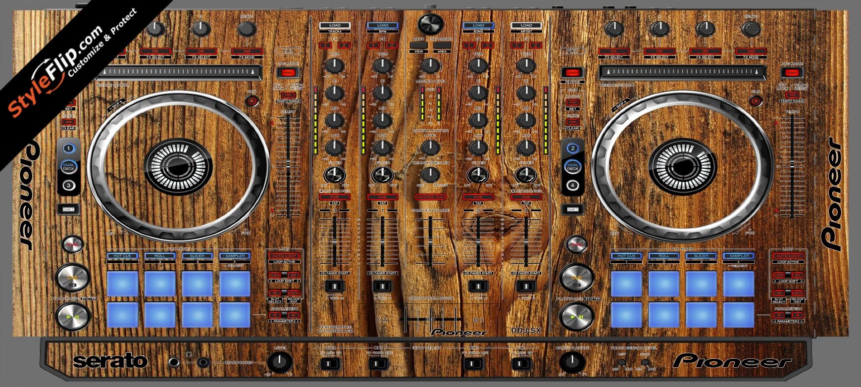 Classic Wood  Pioneer DDJ-SX